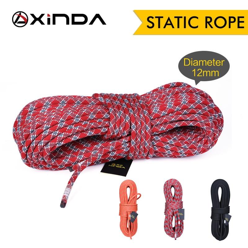 XINDA Camping Rock Climbing Rope 12mm Static Rope Diameter  High Strength Lanyard Safety Climbing Equipment Survival