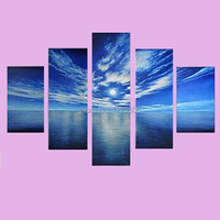 100% Handpainted Oil Paintings Picture Blue Sky Wall Pictures on Canvas for Home Decoration