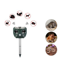 Outdoor Solar Ultrasonic Bird Repeller For Garden Mole Ultrasound Dog Control Fox Rodent Rats Pest Animal
