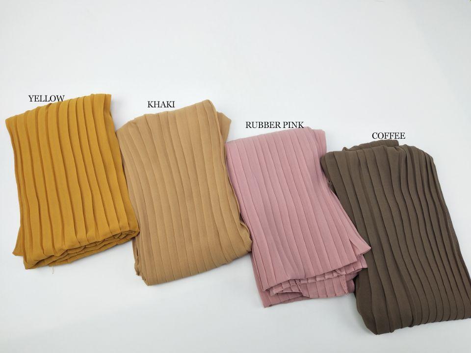 Fashion plain pleat bubble chiffon wrinkle scarf long stripe shawls hijab crumple pashmian muslim scarves scarf