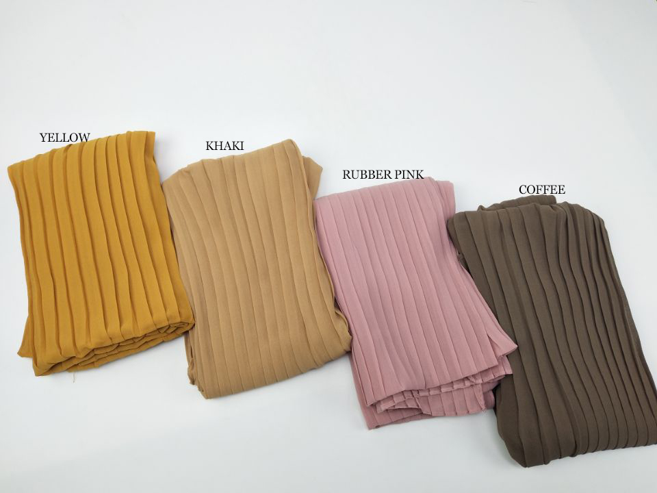 Fashion Plain Pleat Bubble Chiffon Wrinkle Scarf Long Stripe Shawls Hijab Crumple Pashmian Muslim Scarves/scarf 10pcs/lot