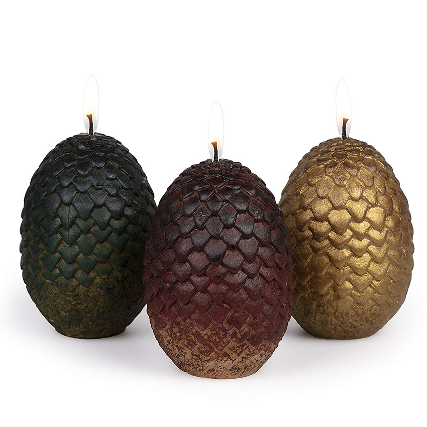 Dragon-Egg-Candles-Set Thrones-Figure Game Sculpted of for Fans Gift 3-Perfect
