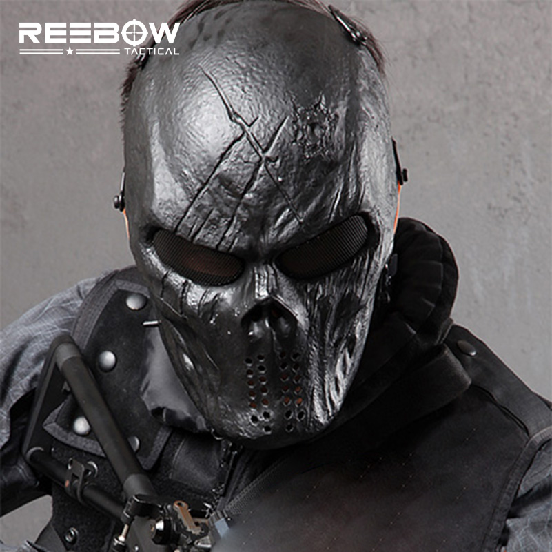 Outdoor Wargame Tactical Mask Black God Full Face Airsoft Paintball Halloween Cosplay Horror Gost SWAT Skull Masks outdoor green paintball airsoft wire mesh full face protection templar mask cosplay wargame gear helmet free shipping