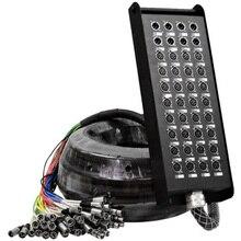 Cable de serpiente de alta calidad, 40 canales, 32X8, caja de cable de audio para escenario con digital 160 pies (50M)