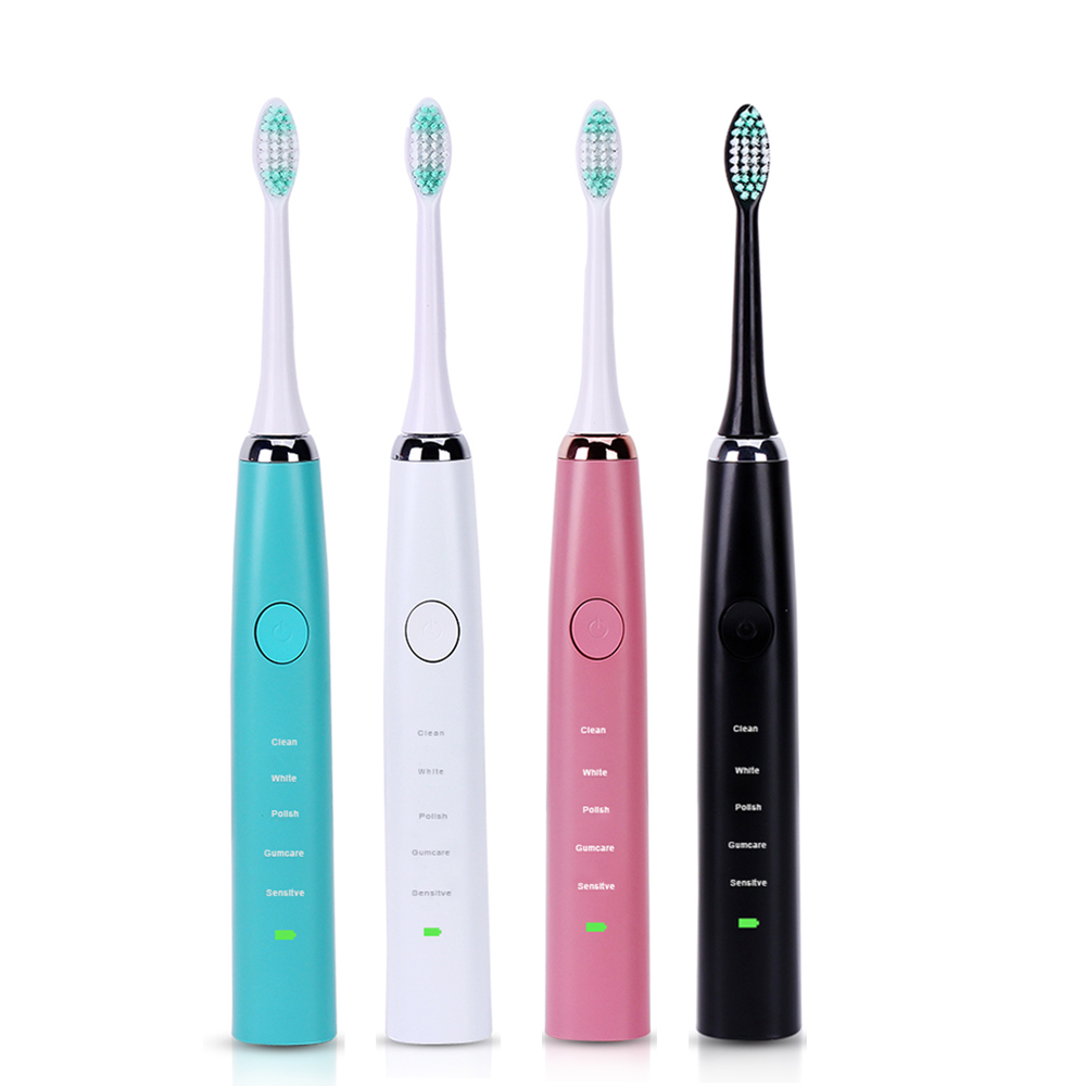USB Vibrating Sonic Electric Toothbrush Oral Hygiene 2 Minuter Timer Ultrasonic Tooth Brush With 4 Replacement Teeth Brush Heads new arrival ultrasonic electric toothbrush oral hygiene chargeable wireless charge sonic brush tooth brush teeth 3 heads