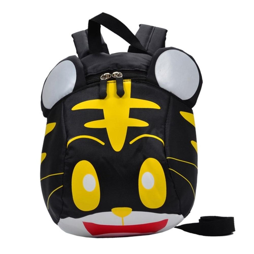 Cute Kids 3D Cartoon tiger For Girls Boys School Bags Kindergarten Anti-lost 1-3 year ba ...