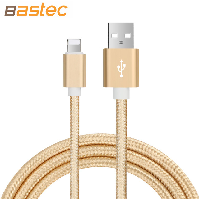 Bastec ultra durable nylon flechtlitzen metallstecker daten sync lade daten telefon usb-kabel für iphone 7 6 6 s plus 5 s 5 ipad Air