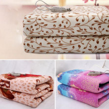 High Quality Flannel Heated Blanket Electric Security Thicker Single Mat Body Warmer Heater