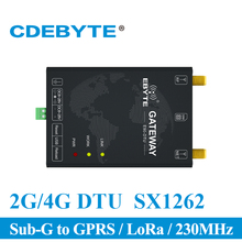 E90-DTU(230SL30-GPRS) 230MHz GPRS 1W LoRa SX1262 USB Interface Wireless Data Transmission Modem Sub G to GPRS Receiver Module serial gprs dtu rs232 to gsm controller for data transmission