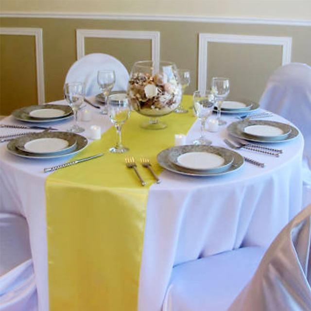 1 Pcs Table Flag Decoration Modern Satin Table Runner Silk Tablecloth  Wedding Flag