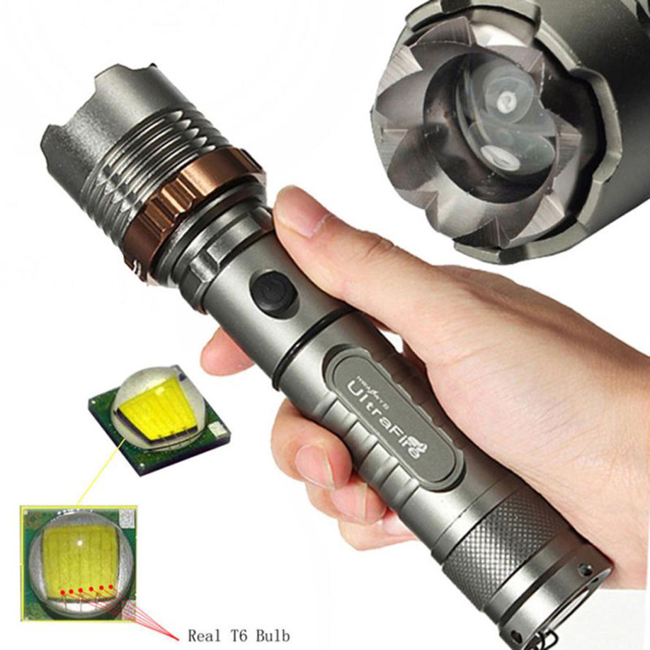 MUQGEW   CREE XML T6 LED 18650 Flashlight Focus Torch Lamp 2017 Newest Super Bright Hot Sell  Tactical 3000 Lumen Zoomable ac eu waterproof cree xml t6 zoomable flashlight 3800 lumen super bright adjustable focus torch lamp for 3xaaa or 1x18650battery