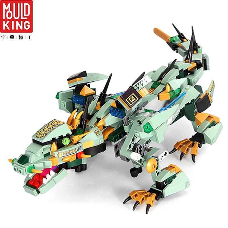 MOULD KING 13022 Remote Control Ninjago Dragon Building Blocks Technic Educational Toys RC Action Figure Children LEPIN™ Land Shop