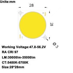 Hohe CRI RA 95 + High Power Dichte Citizen LED-Chip COB LED Tageslicht 5600K DC47.8-56.2V 5750mA 300W 30000lm-35000lm