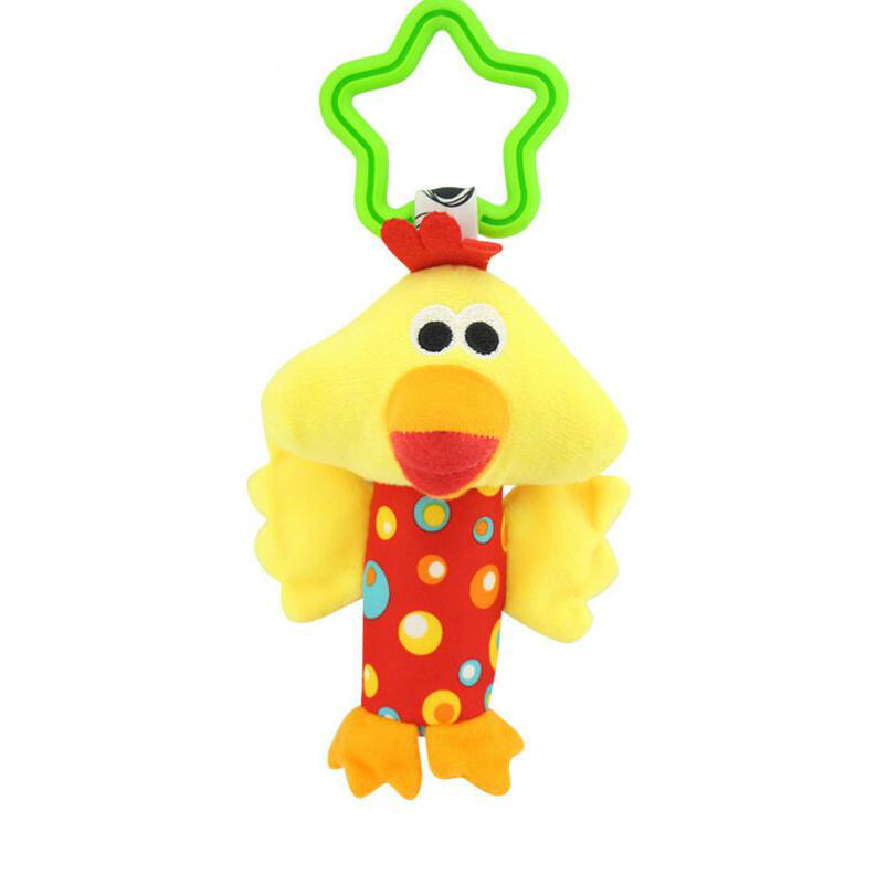 Image 3 - Baby Kids Bearoom Rattle Toys Cartoon Animal Plush Hand Bell Baby Stroller Crib Hanging Rattles Toys Infant Bed Hanging Gift-in Baby Rattles & Mobiles from Toys & Hobbies