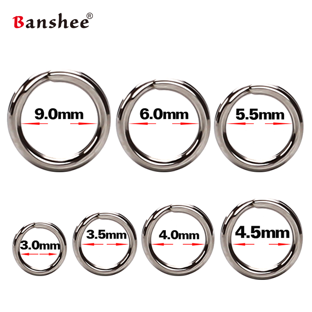 100Pcs Fishing Rings Stainless Steel Split Rings High Quality Strengthen Solid Ring Lure Connecting Ring For Fishing Accessories