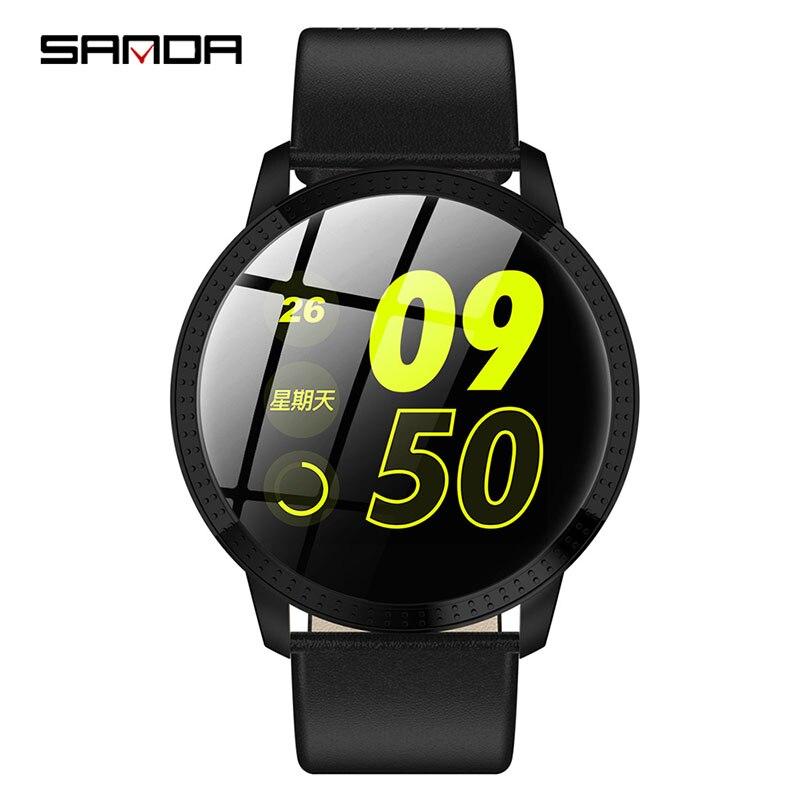2019 NEW SANDA smart watch business fashion men and women wrist watch multifunction step count watch