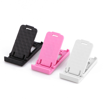 Universal Portable Mini Size Adjustable Collapsible Plastic Cell Phone Holder Stand for Smartphone Mobile Phone Tablet magnetic attraction bluetooth earphone headset waterproof sports 4.2