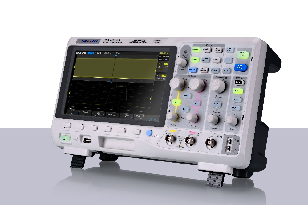 Siglent SDS1202X benchtop digital scope 200MHz  2Channels, 8'' TFT-LCD, 1G Sample rate, 14M memory, free shipping, free decoding  осциллограф siglent sds1152cml 2 150 1 sa