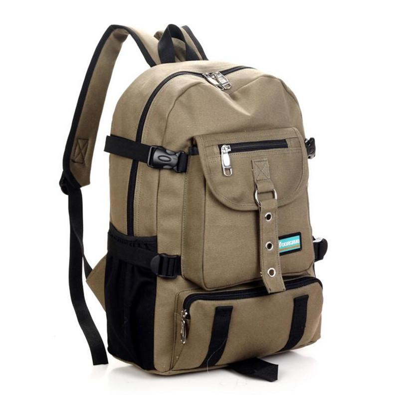 New Fashion Shoulder Strap Zipper Solid Casual Bag Male Backpack School Bag Canvas Backpack Designer Backpacks