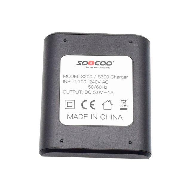 SOOCOO S300 S200 Originais Carregador de Bateria com Saída DC 5 V 1A Acessórios para S300 S200 4 K Esportes de Ação câmera