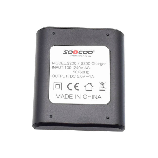 SOOCOO S300 S200 Original Battery Charger with DC 5V 1A Output Accessories for S300 S200 4K Sports Action Camera