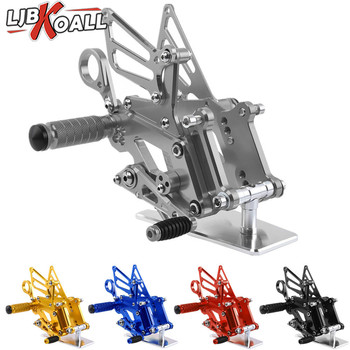 LJBKOALL Motorcycle CNC Aluminum Adjustable Rearsets Rear Sets Foot Pegs For BMW S1000RR 2015 2016 2017