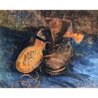 高品質手作り風景油絵キャンバスaペアの靴ヴィンセントヴァンゴッホ家の絵の装飾現代アー
