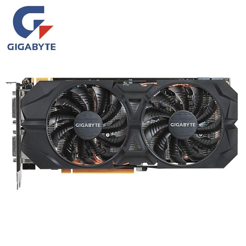 GIGABYTE tarjeta de vídeo Original GTX960 2 GB 128Bit GDDR5 2GD5 tarjetas gráficas nVIDIA Geforce GTX 960 N960WF2OC-2GD Hdmi Dvi tarjetas
