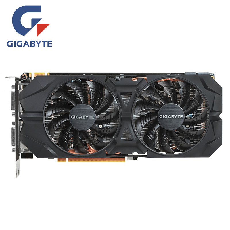 GIGABYTE tarjeta de vídeo Original GTX960 2GB 128Bit GDDR5 2GD5 tarjetas gráficas nVIDIA Geforce GTX 960 N960WF2OC-2GD Hdmi Dvi tarjetas