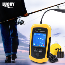 LUCKY FFC1108-1 Fish Finder Portable Sonar Wired LCD Fish depth Finder Alarm 100m Electronic Fishing Tackle