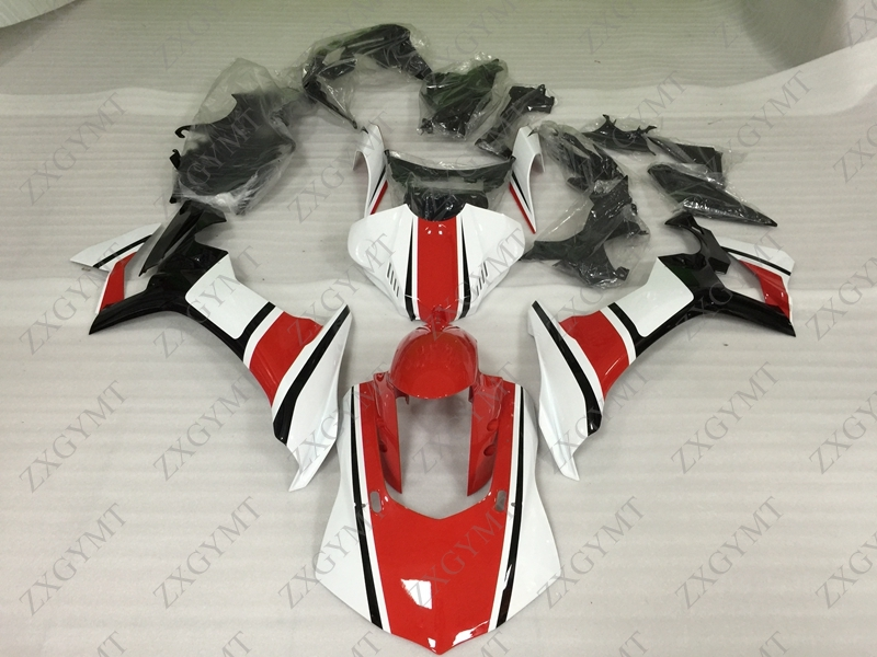 Motorcycle Fairing YZF R1 2015 - 2017 Red White Fairings for YAMAHA YZFR1 15 Full Body Kits YZF R1 15Motorcycle Fairing YZF R1 2015 - 2017 Red White Fairings for YAMAHA YZFR1 15 Full Body Kits YZF R1 15