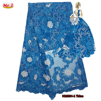 Mr Z High Quality African Lace Fabric Tulle African French Lace Fabric 2016 Embroidered Tulle Mesh