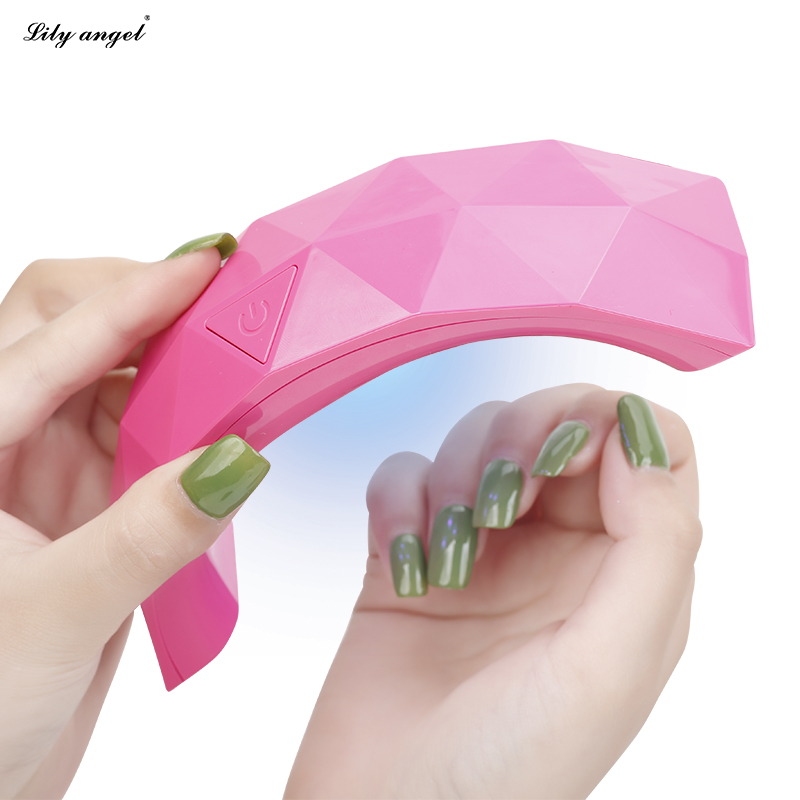 Lily Angel Hot 9w Mini Led L Nail Dryer Portable Usb Cable Gel Rainbow Curing Light Art Tools In Form From Beauty