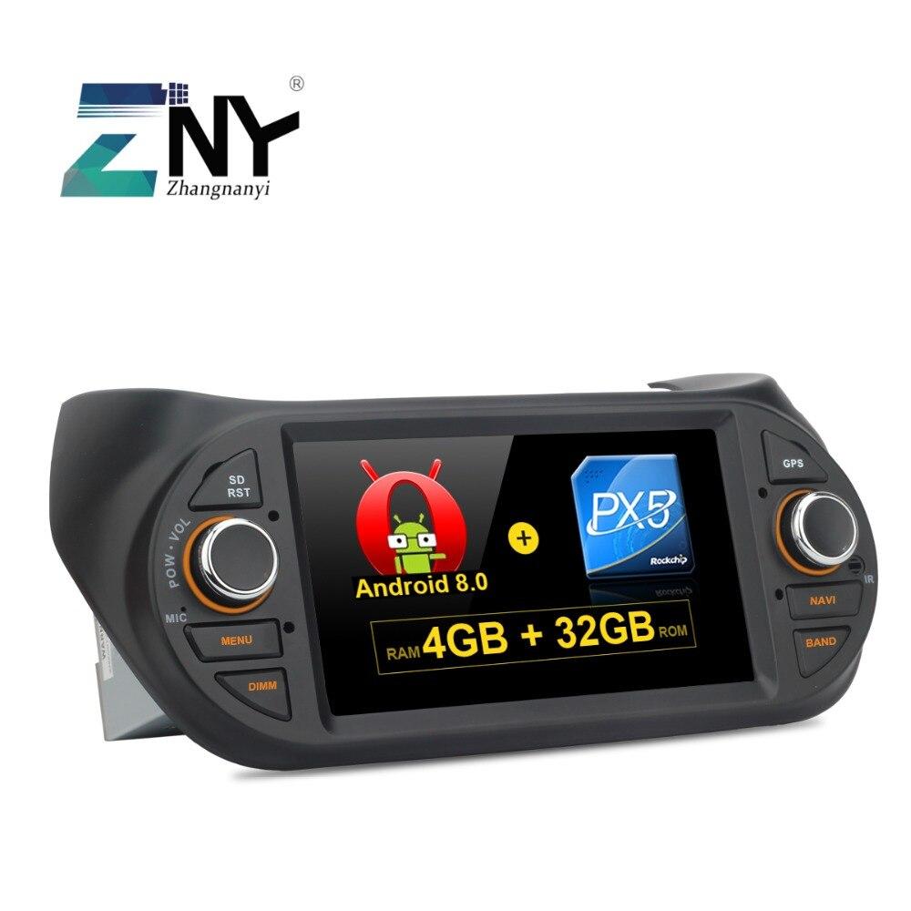 7 IPS Affichage Android 8.0 Stéréo De Voiture Pour Fiat Fiorino Qubo Citroen Nemo Peugeot Bipper auto-radio FM navigation gps WiFi aucun DVD