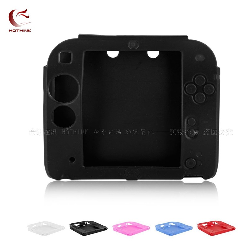 5 Colors To Choose Protective Soft Ultra Thin Skin Silicone Cover Case For Nintendo 2DS