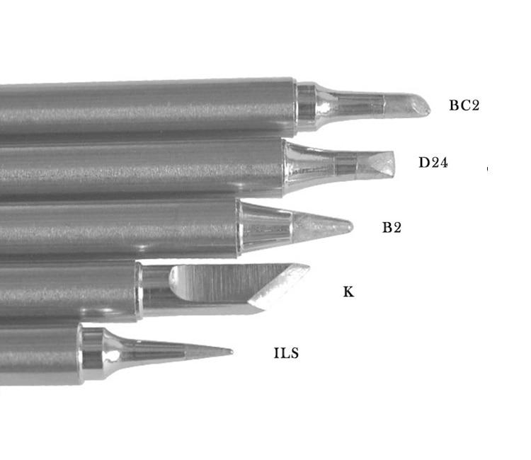 5Pcs BL BC2 BC3 BL Soldering Iron Tip For HAKKO T12 Handle DIY Kit FX951 FX952