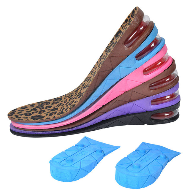 Shoe Insole Lift Height Increase Heel Insoles Pair Taller For Men And Women High Quality New 3-layer 7cm Air Bubble Cushion