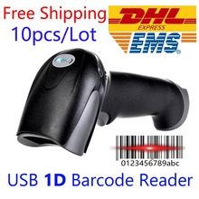 Nexan 10 шт./лот DHL EMS Бесплатная доставка USB 1D сканер штрих кода для iOS Android оконные рамы