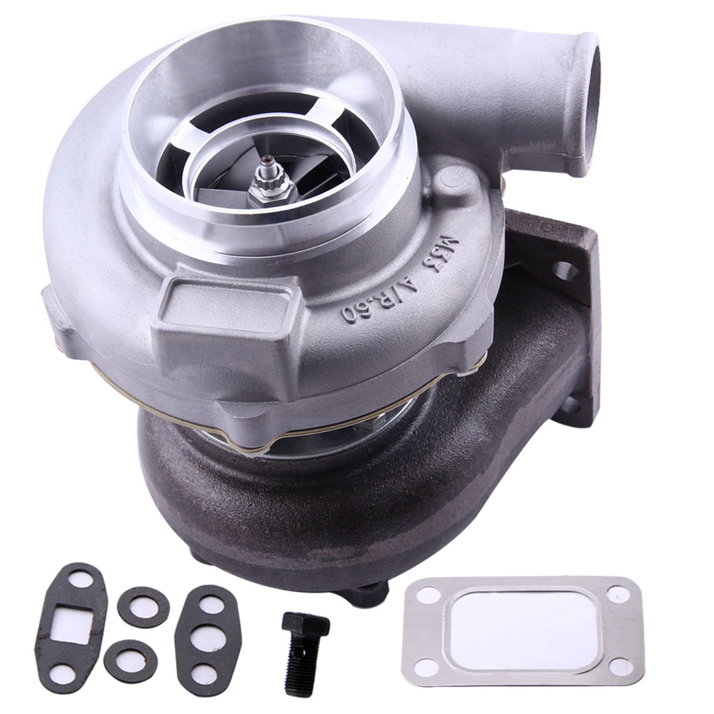 Universal turbo turbocharger GT3037 GT30 T3 Flange A/R .60 anti-surge Water+Oil for all 6 / 8 cyl 3.0L-5.0L engines
