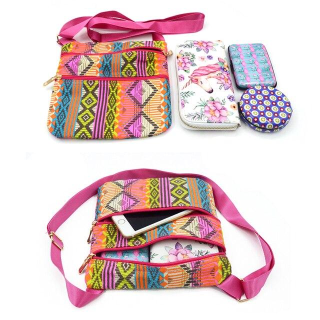 Small Sling Bag Crossbody Messenger Bag For Women Design Phone Bag Female Casual Canvas Shoulder Bag 1