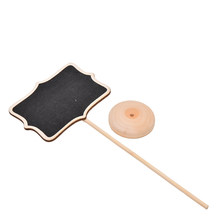 Wooden Place Card Holder Table Number Vintage Mini Wood Chalkboard Blackboard for Wedding Event Party Decoration(China)