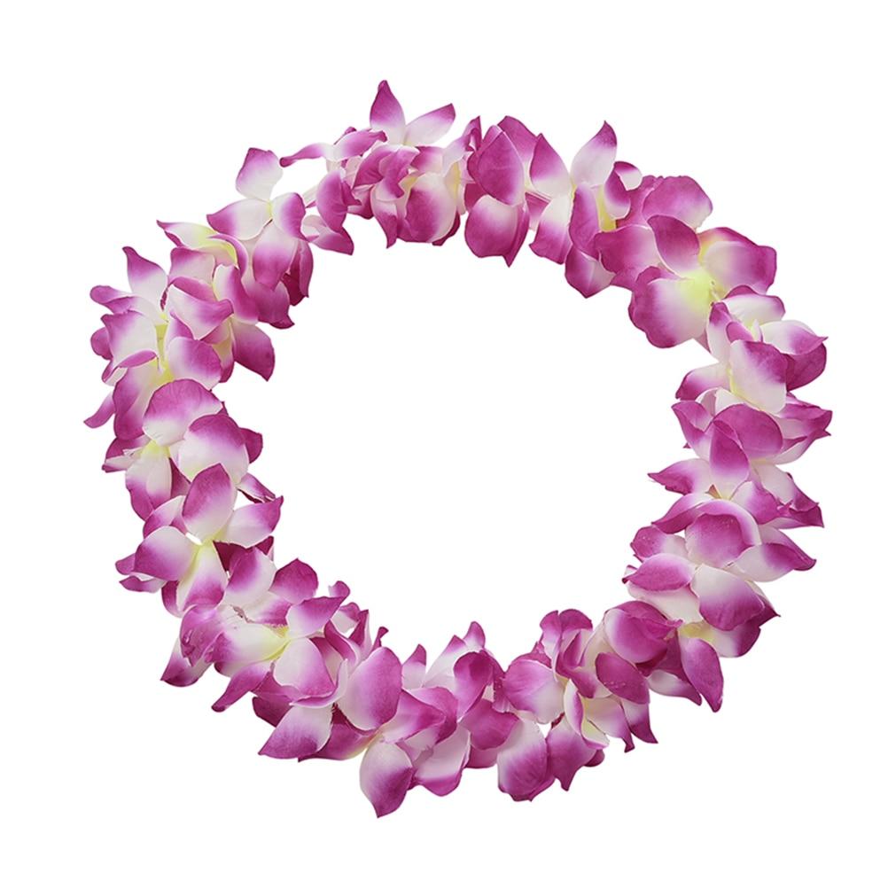 Home Decor Party Beach Tropical Flower Necklace Hawaiian Luau Petal