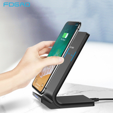 FDGAO QI Wireless Charger for iPhone XS Max XR X 8 10W Fast Charging Pad For Samsung Note 9 S9 S8 Quick Stand