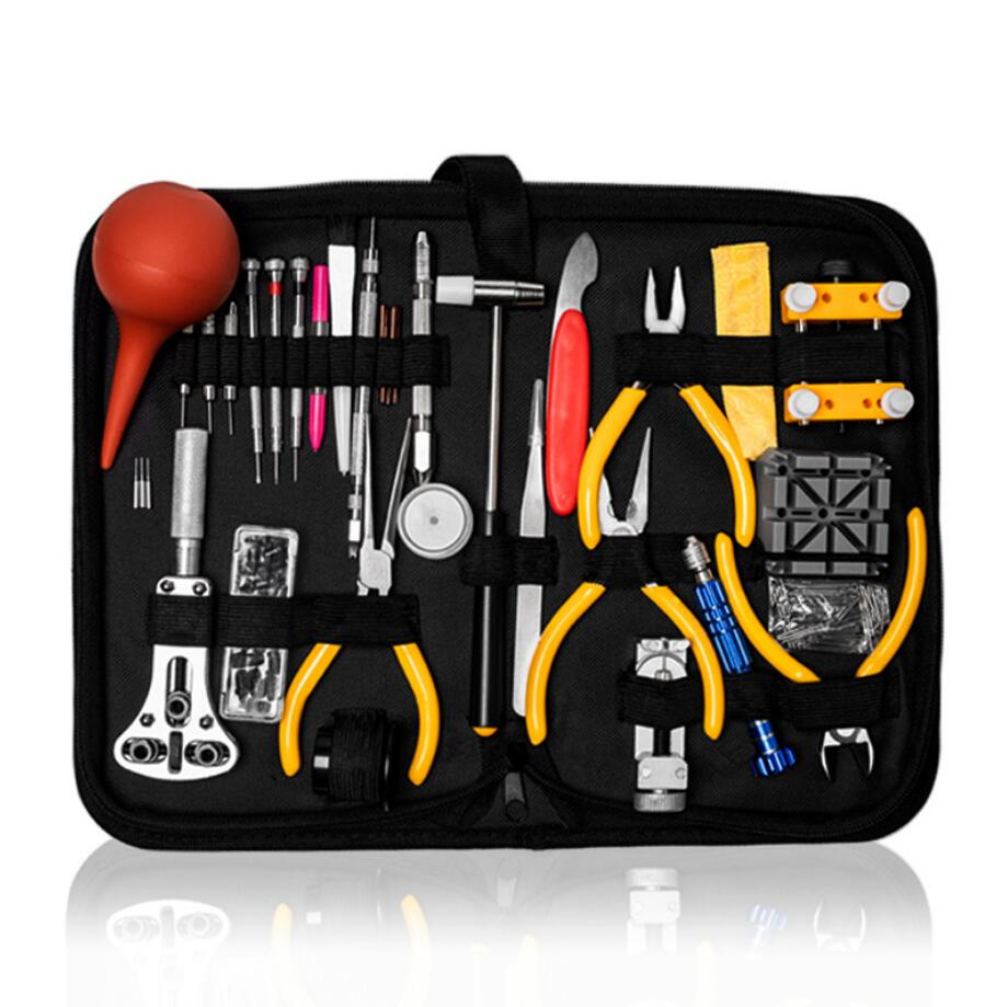SANYU Professional Watch Case Holder Tools Set Clock Repair Tool Kit Opener Link Pin Remover Set