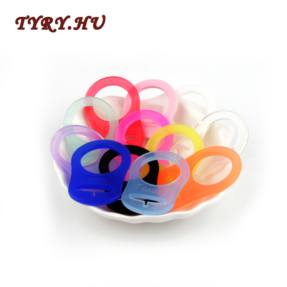 TYRY.HU 10pcs Pacifier Adapter Of Material Silicone For Dummy Pacifier Ring Holder Clip Adapter Soother Teething Ribbon BPA Free
