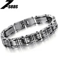 2015 Korean Fashion Stainless Steel Bracelets Classic Bicycle Chain Wristaband Bracelet Personalized Gift For Men,JM629