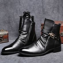 цены NEW Men Chelsea Boots Fashion Ankle Boots Soft Leather Comfortable Casual Shoes Men Waterproof Man Boots Botas De Invierno