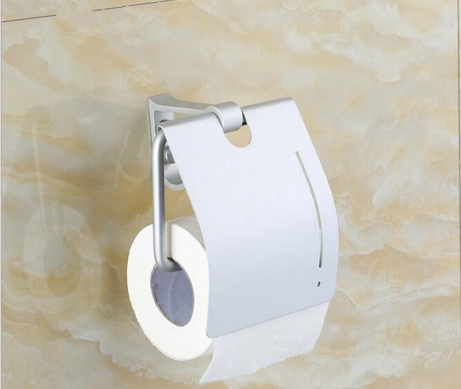 1PC Space Aluminium Toilet Paper holder Creative Brush Wall Mounted Roll Holder Stand Tissue Box NG 009