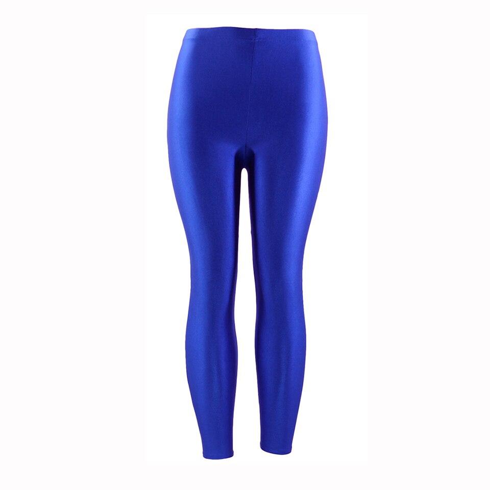 7d1df7de6d843 21 Colors Plus Size Fluorescent Color Women Leggings Elastic Leggings  Spandex Multicolor Shiny Glossy Leggins Trousers For Girl