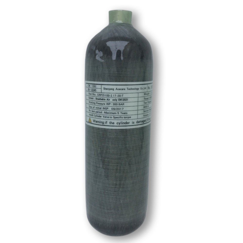 AC1217 2.17L 30Mpa 4500psi PCP High Pressure Cylinder Carbon Fiber SCUBA Cylinder Pcp Air Rifle Drop Shipping Acecare-E
